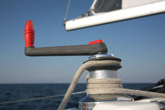Winch on a sailboat Stock Photography