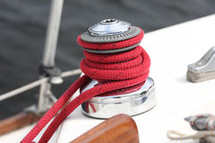 Winch of a sailboat Stock Photo