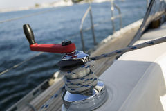 Winch On Sailboat Stock Images
