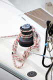 A winch of a sailboat, detail Stock Image