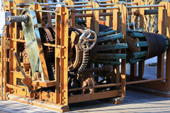 Winch on old sailing ship Royalty Free Stock Photo