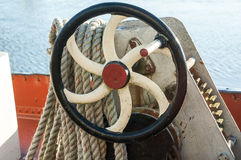 Winch wheel on boat Royalty Free Stock Photography