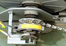 Winch With Chain Royalty Free Stock Images