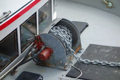 A winch at work in alaska. Royalty Free Stock Images