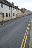 Winchcombe town street scene. Street of old houses in Winchcombe town, Cotswolds, England Stock Photography