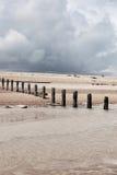 Winchelsea Англия свободного полета погоды пляжа стоковое фото rf