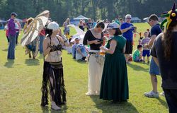 Free Winches At The Inaugural Mid-South Renaissance Faire. Royalty Free Stock Photography - 58639387