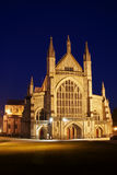 Winchester Cathedral 2. Image of front of Winchester Cathedral at night Royalty Free Stock Images