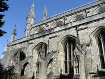 Winchester Cathedral. The medieval spires of historic Winchester Cathedral, Winchester, England Stock Photos