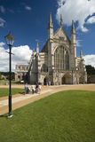 Winchester Cathedral. On a beautiful day Stock Photos