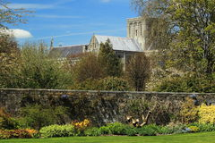 Winchester cathedral. Church of England cathedral in Winchester, Great Britain Stock Images