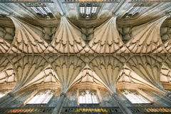 Winchester Cathedral vaulting. Vault ceiling of the Winchester Cathedral in England Royalty Free Stock Photo