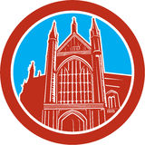 Winchester Cathedral Woodcut Retro Stock Images