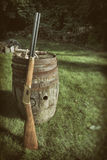 Winchester Centennial '66 Rifle and Old Barrel Stock Photos