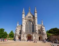 Winchester domkyrka Hampshire sydostliga England UK Arkivfoto