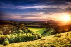 Winchester-Hügelsonnenuntergang Lizenzfreies Stockfoto