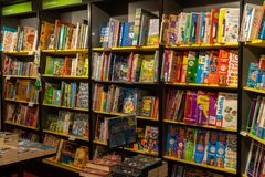 11/06/2019 Winchester, Hampshire, UK Children's Books for sale on shelves in a book store or book shop