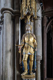 WINCHESTER, HAMPSHIRE/UK - 6 MAART: Standbeeld van Joan van Boog in Wi Royalty-vrije Stock Foto's