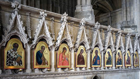 WINCHESTER, HAMPSHIRE/UK - MARCH 6 : Religious Paintings in Winc Royalty Free Stock Photos