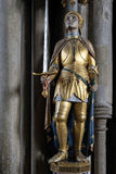 WINCHESTER HAMPSHIRE/UK - MARS 6: Staty av Joan av bågen i Wi Royaltyfri Foto