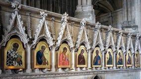 WINCHESTER, HAMPSHIRE/UK - 6 MARZO: Pitture religiose in Winc Fotografie Stock Libere da Diritti