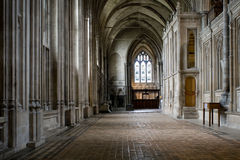 Winchester-Kathedrale-Gang Lizenzfreies Stockbild