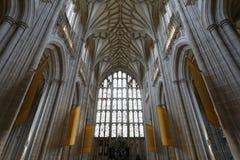 Winchester-Kathedrale Vaulting Stockbilder