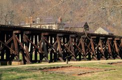Winchester and Potomac Railroad Trestle in Harpers Ferry Stock Photos