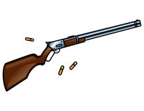 Winchester Rifle Gun. Winchester rifle is a gun for true cowboys Royalty Free Stock Photography