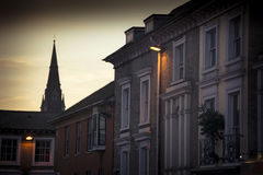 Winchester skyline at dusk Royalty Free Stock Photography