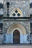Winchester-Stadt, England, das Tor, mittelalterliche Tordurchlaufabflussrinne lizenzfreies stockfoto