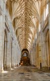 Winchester Cathedral Nave interior Hampshire South East England Royalty Free Stock Photo