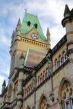 WINCHESTER, UK: Ratusz z szczegółami zewnętrzna architektura Zdjęcia Stock