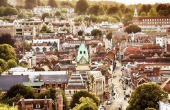 Winchester UK town view. From high up Royalty Free Stock Photo
