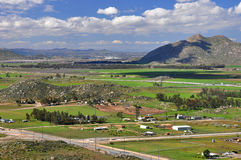 Winchester Valley view. Lots of agriculture and farming takes place in the Winchester Valley near Hemet, California Royalty Free Stock Image