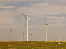 In the Wind. Wind power energy in western Oklahoma Royalty Free Stock Image