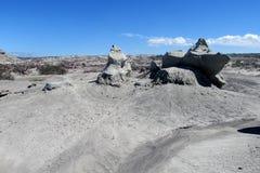 Wind-abgefressene Felsformationen des grauen Sandsteins Lizenzfreie Stockbilder