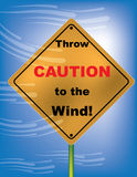 Wind Advisory. Streams of wind and a roadside sign are featured in a vector illustration Stock Images