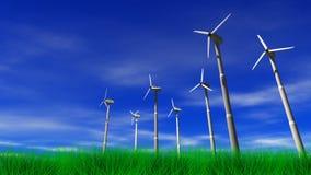 Wind-Arbeitsturbinen lizenzfreie abbildung