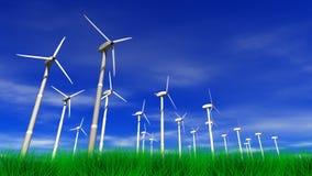 Wind-Arbeitsturbinen vektor abbildung