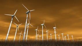 Wind-Arbeitsturbinen stock abbildung