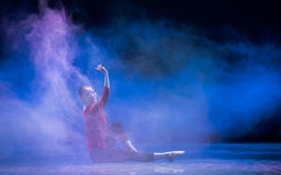 Wind Around The Clouds-Modern Dance Royalty Free Stock Images