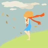 Wind auf Herbst lizenzfreie stockfotografie