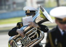 Wind band. Naval wind band Royalty Free Stock Photography