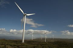 Wind-Bauernhöfe Stockbild