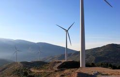 Wind-Bauernhof in der Sierra Nevada, Andalusien, Spanien Stockbilder