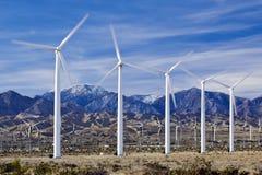 Wind-Bauernhof in Südkalifornien Lizenzfreies Stockbild
