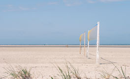 Wind in beachvolleyball nets Royalty Free Stock Photos