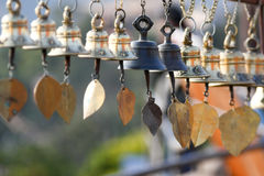 Wind bells. Hung in a temple in Nepal Royalty Free Stock Photography