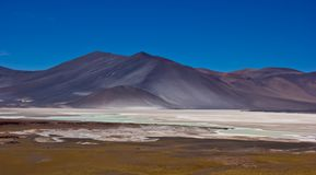 Wind blow salt on mountain in Chile royalty free stock image